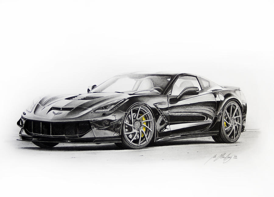 2015 chevrolet corvette zr1 drawing painting by miro