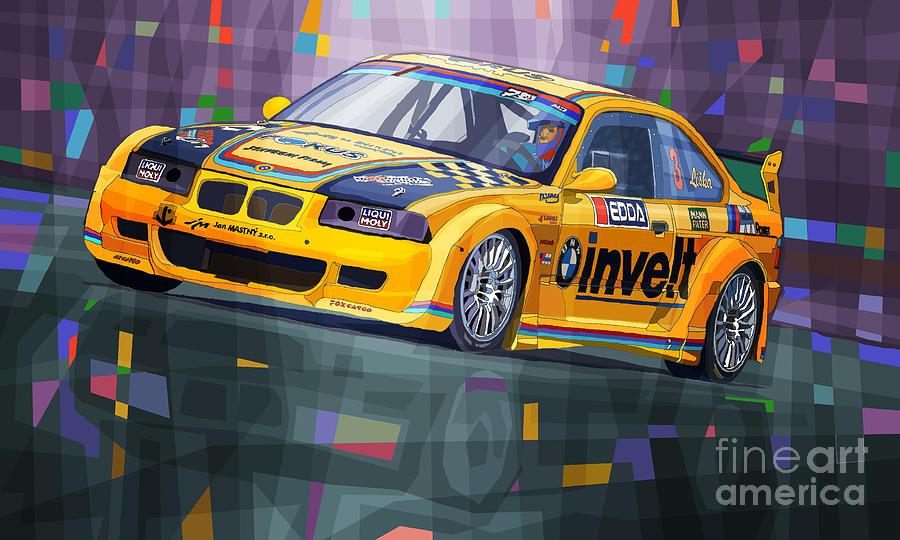 Automotive Digital Art - 2015 Edda Cup Jested Bmw M3 E36 Liska by Yuriy Shevchuk