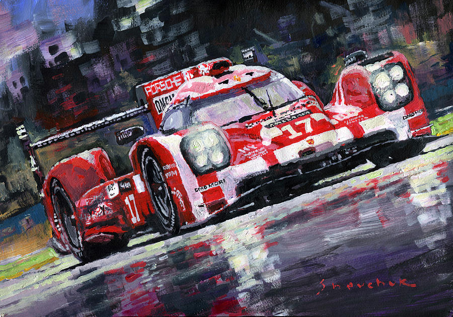 2015 Le Mans 24h Porsche 919 Hybrid Painting By Yuriy Shevchuk