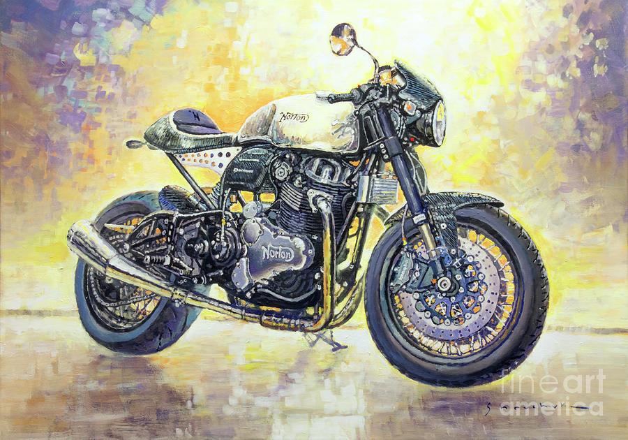 Automotive Painting - 2015 Norton Dominator  by Yuriy Shevchuk