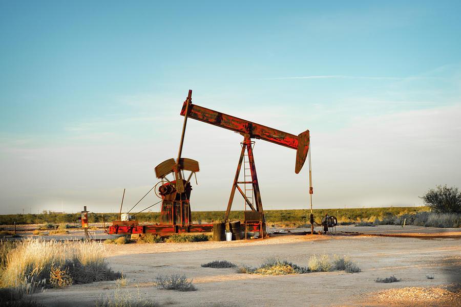 Oil And Gas Photograph - 2016_10_pecos Tx_pump Jacks 2 by Brian Farmer