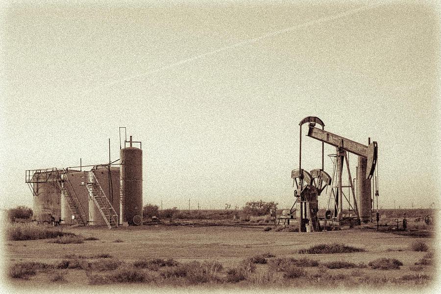 Oil And Gas Photograph - 2016_10_pecos Tx_pump Jacks 3 by Brian Farmer