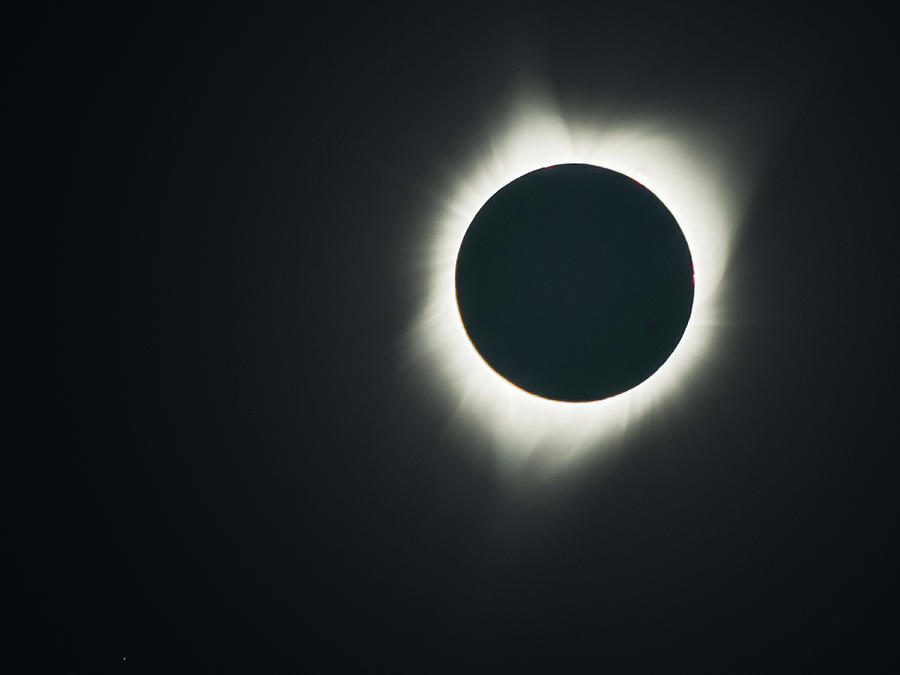 Depoe Bay Photograph - 2017 Eclipse Corona by Mike Herdering