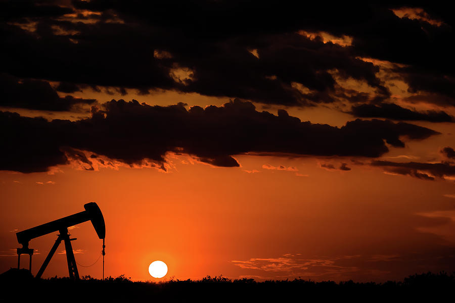 Oil And Gas Photograph - 2017_08_midkiff Tx_ Sunset Pump Jack 3 by Brian Farmer