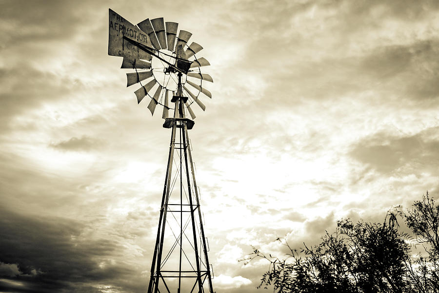 West Texas Photograph - 2017_08_midland Tx_windmill 3 by Brian Farmer