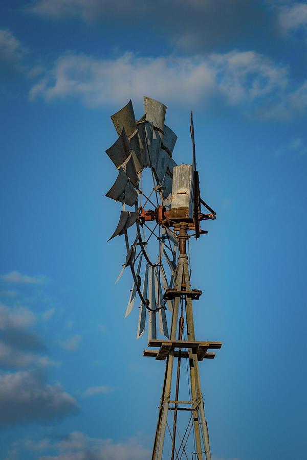 West Texas Photograph - 2017_08_midland Tx_windmill 8 by Brian Farmer
