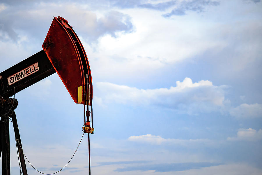 Oil And Gas Photograph - 2017_09_midkiff Tx_oil Well Pump Jack Closeup 4 by Brian Farmer