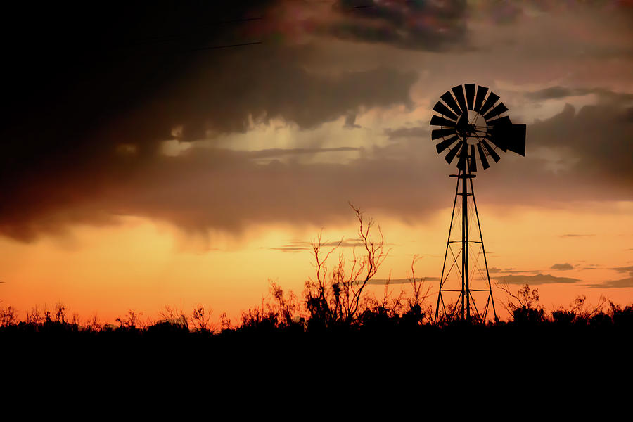 West Texas Photograph - 2017_09_midland Tx_windmill 1 by Brian Farmer