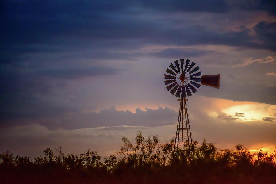West Texas Photograph - 2017_09_midland Tx_windmill 11 by Brian Farmer