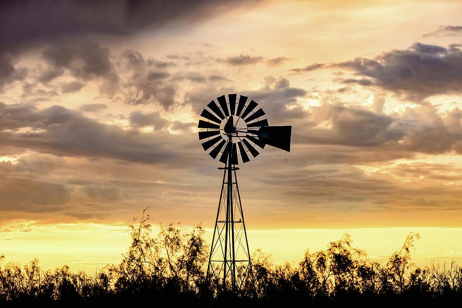 West Texas Photograph - 2017_09_midland Tx_windmill 6 by Brian Farmer
