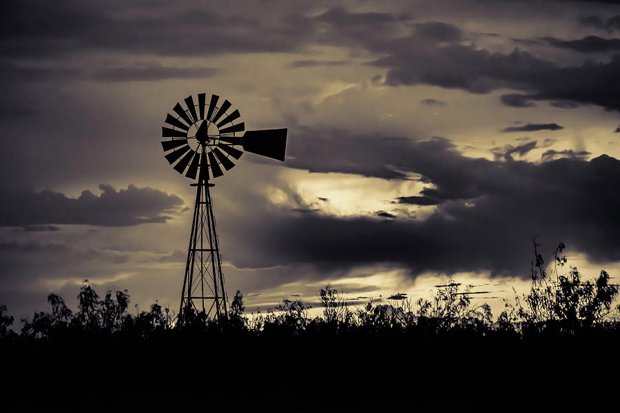 West Texas Photograph - 2017_09_midland Tx_windmill 8 by Brian Farmer