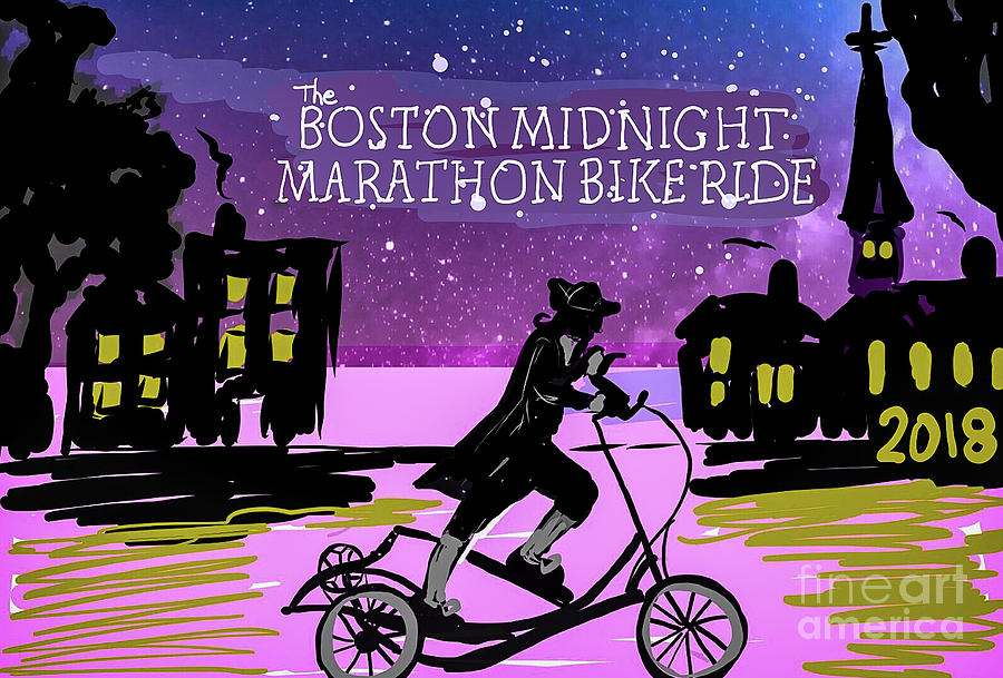 2018 Boston Marathon Midnight Ride by Francois Lamothe