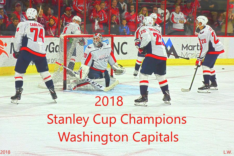 Washington Capitals Photograph - 2018 Stanley Cup Champions Washington  Capitals by Lisa Wooten c8a2ce585