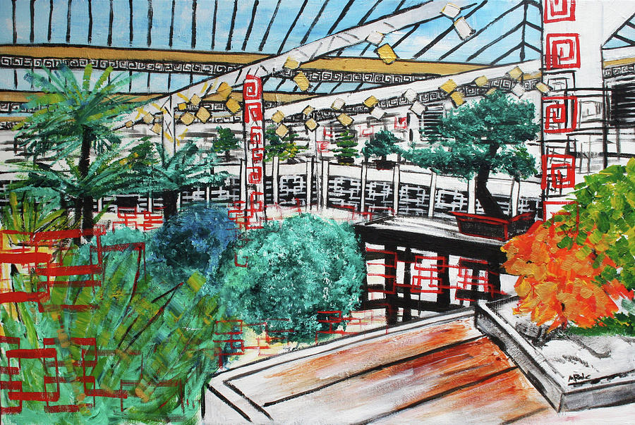 Bonsai Painting - 201804 Bonsai And Penjing Museum Washington by Alyse Radenovic