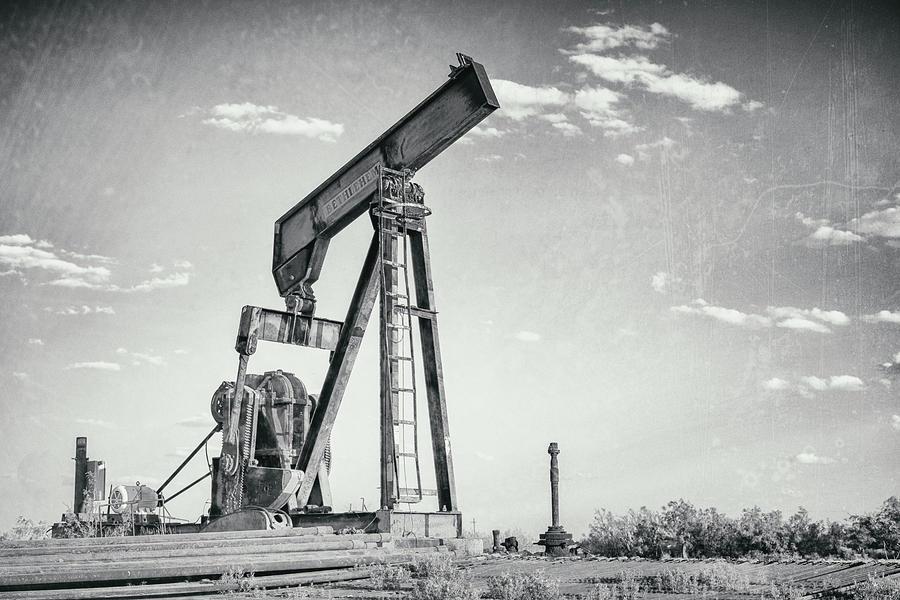 Oil And Gas Photograph - 2018_04_orla Texas_broken Pump Jack 1 by Brian Farmer