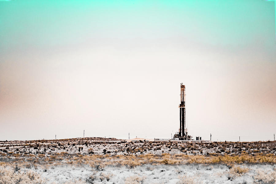 Oil And Gas Photograph - 2018_04_orla Tx_cactus 153 2 by Brian Farmer