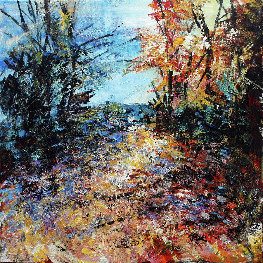 Dyke Marsh Wildlife Preserve Painting - 201805 Dyke Marsh Wildlife Preserve by Alyse Radenovic