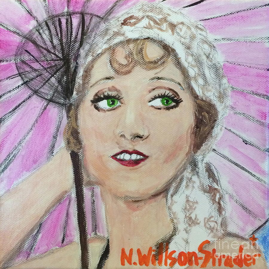 1920s Painting - 20s Glamour, Parasol by N Willson-Strader