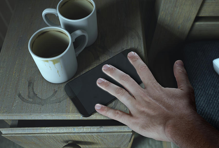 Blank Digital Art - Bedside Table And Cellphone by Allan Swart