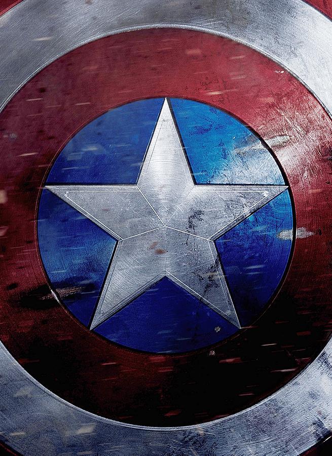 Captain America Digital Art - Captain America Civil War 2016 by Geek N Rock