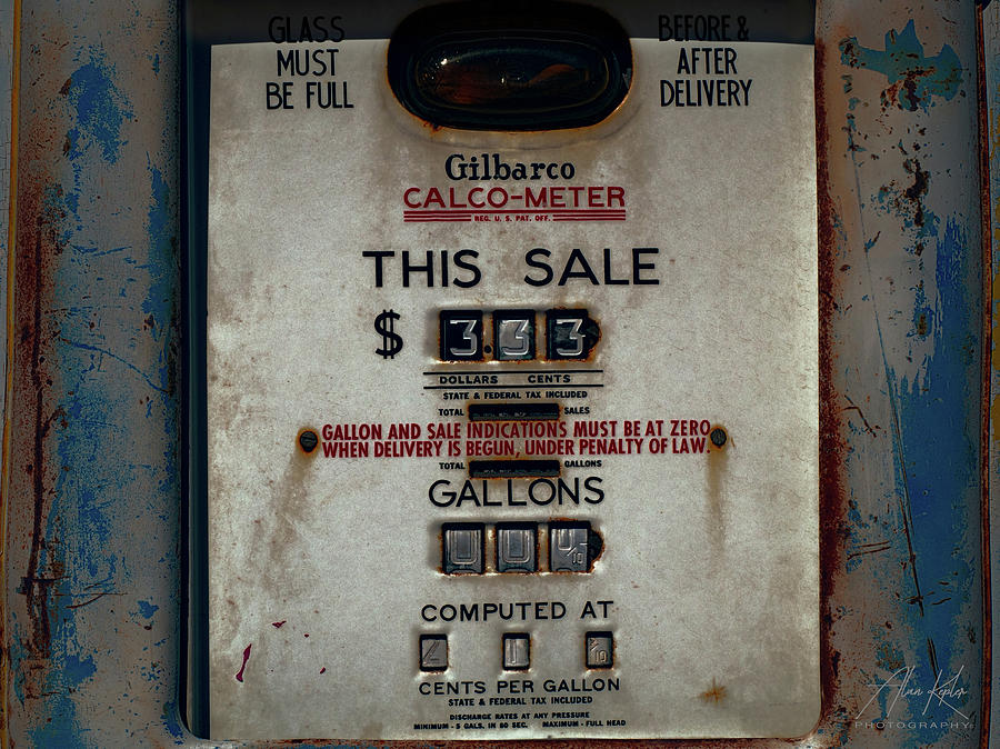 21 Cents Per Gallon Photograph