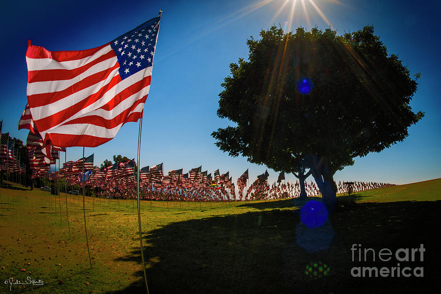 Pepperdine Flag Salute Photograph