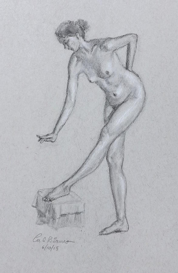 Nude Drawing - 2165 by Lee Bianco