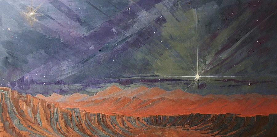 Glow In The Dark Painting - Cosmic Light Series by Len Sodenkamp