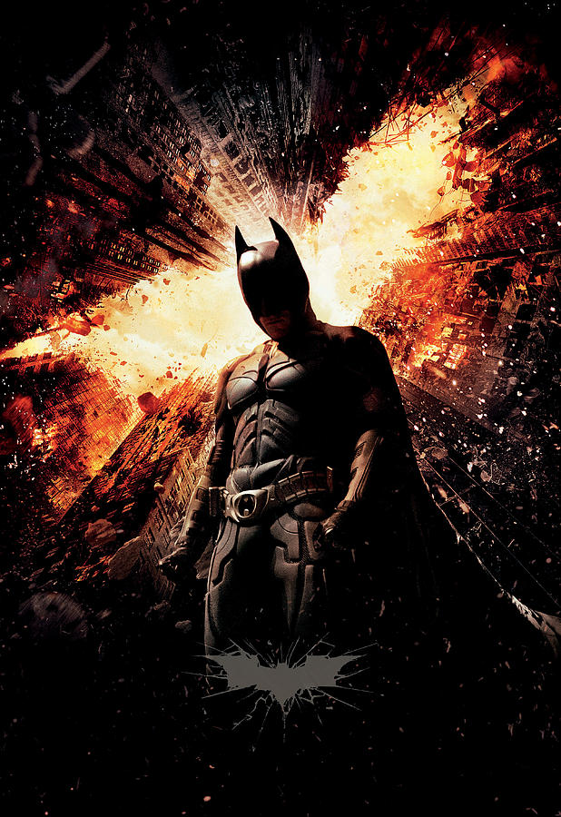 Batman Digital Art - The Dark Knight Rises 2012  by Geek N Rock