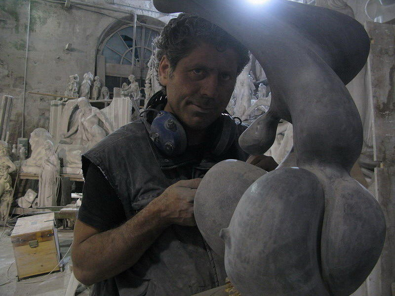 Italian Sculpture Sculpture - The Woman Metaphysics by Emanuele Rubini