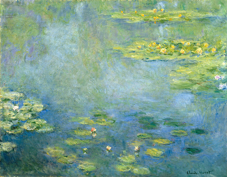Claude Monet Painting - Waterlilies by Claude Monet