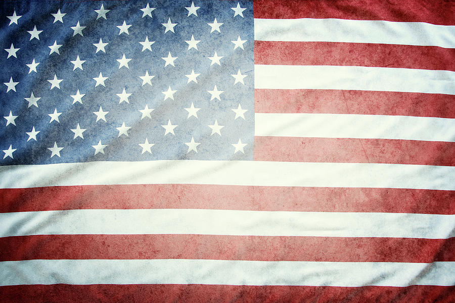 American Flag Photograph - American Flag 37 by Les Cunliffe