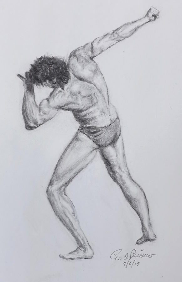 Nude Drawing - 2200 by Lee Bianco