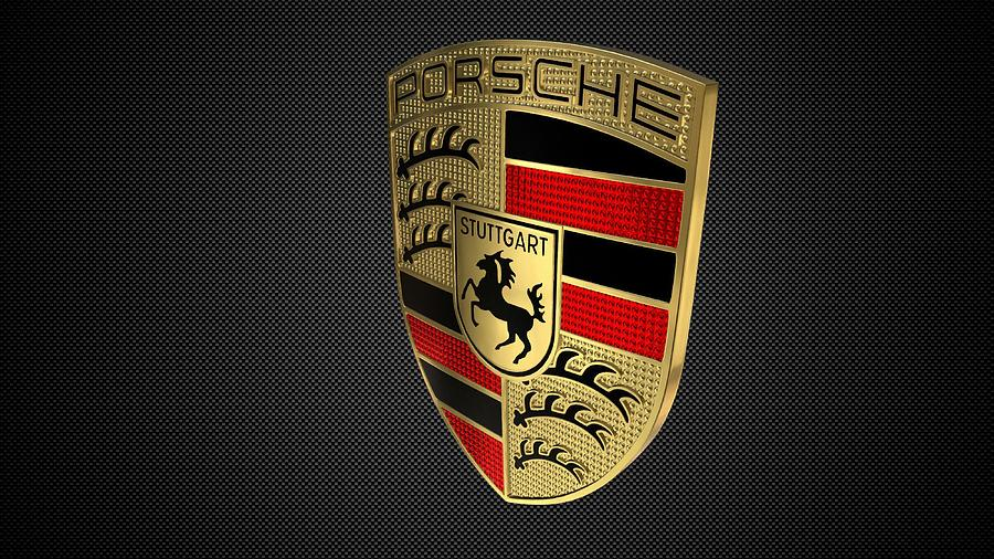 Porsche Logo Digital Art By Porsche Logo