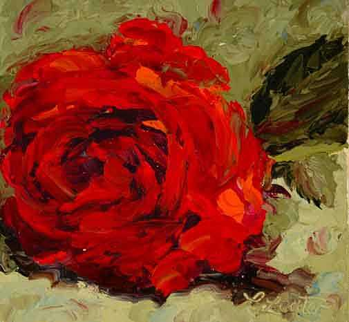 Rose Study Painting by Colleen Murphy