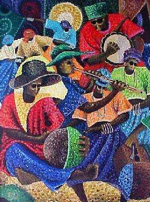 Celebration Of Life By Chidi Okoye Painting by Chidi Okoye