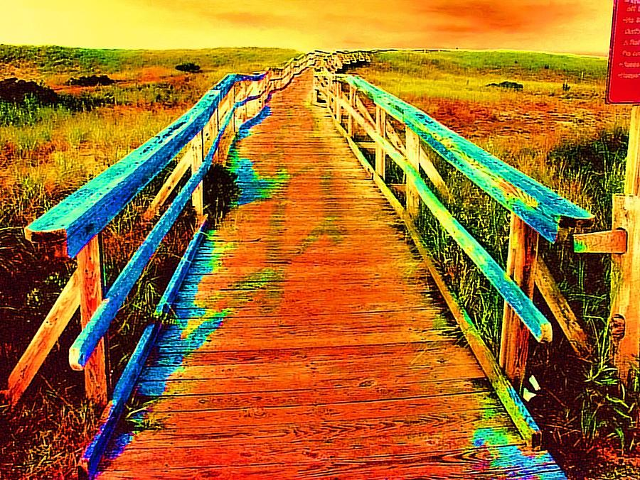 Wooden Walkway Painting - 2355z  Wooden  Walkway by Ed Immar