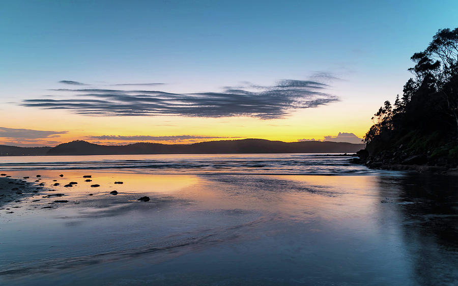 Umina Beach Photograph - Daybreak Seascape by Merrillie Redden