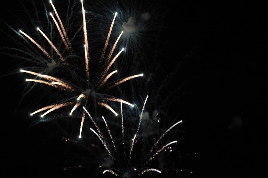 Firework Photograph - Fireworks by Jeremiah David