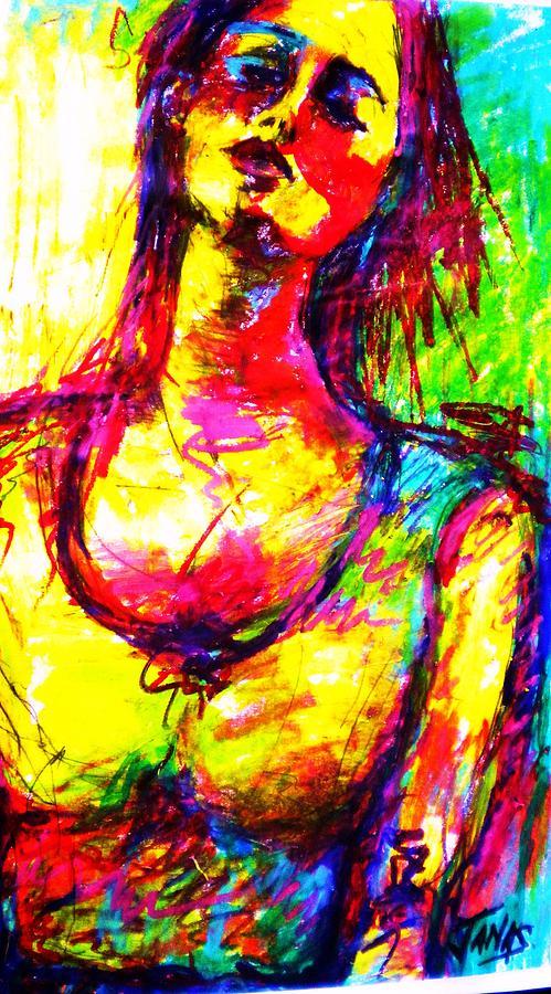 Woman Painting - Janas by B Janas