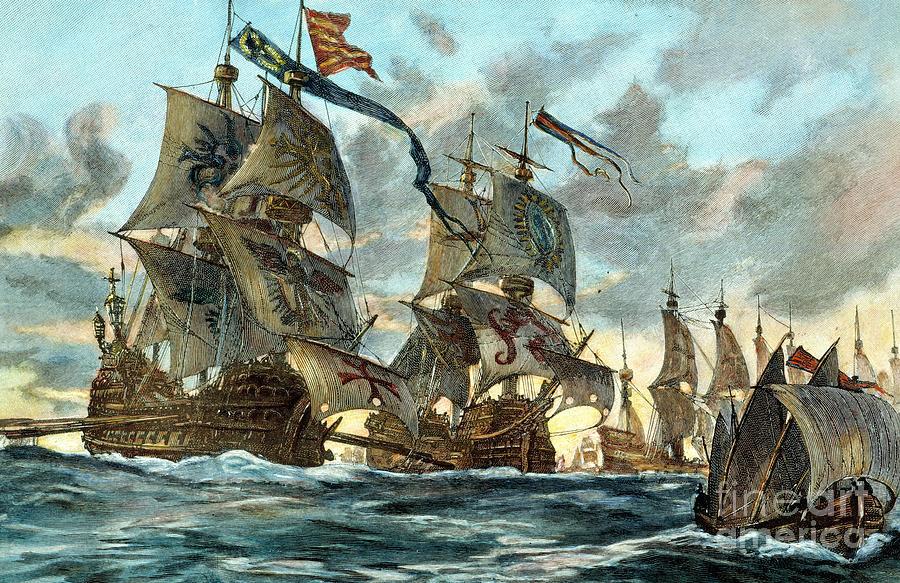 1588 Photograph - Spanish Armada (1588) by Granger
