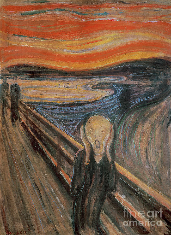 Munch Painting - The Scream by Edvard Munch