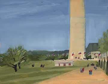 Washington Dc Painting - National Mall by Dave Rasel