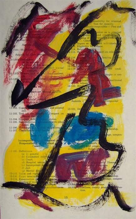 Abstract Painting - Abstract On Paper No. 17 by Michael Henderson