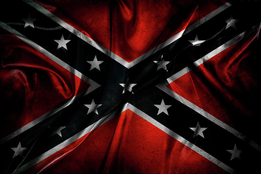 Aged Digital Art - Confederate flag 25 by Les Cunliffe