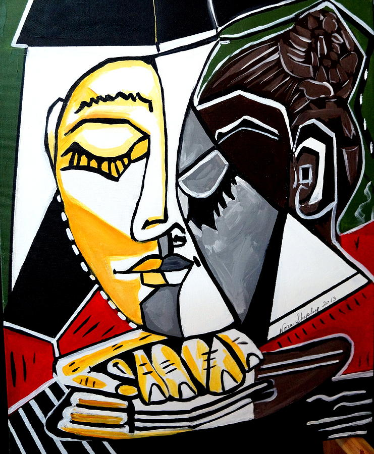 Abstract Painting - Picasso By Nora Fingers by Nora Shepley