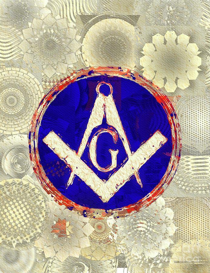Freemason Painting - Freemason, Masonic, Symbols by Pierre Blanchard