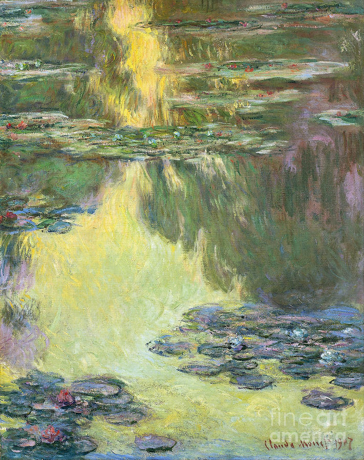 Claude Painting - Waterlilies by Claude Monet