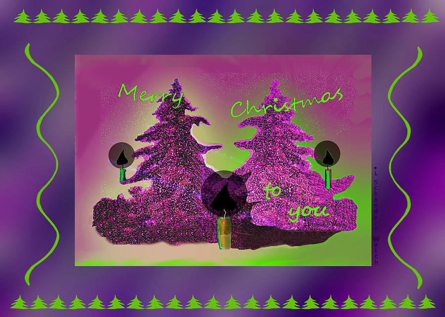 2608 Merry Christmas To You 2018 Digital Art by Irmgard Schoendorf Welch