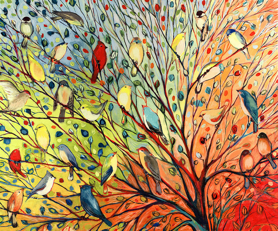 27 birds painting by jennifer lommers Fine art america